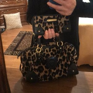 Juicy Couture satchel and wallet pair